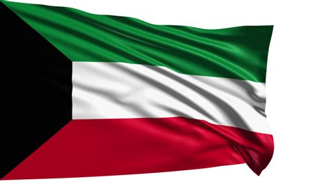 kuwait flag  fabric structure  loop  alpha