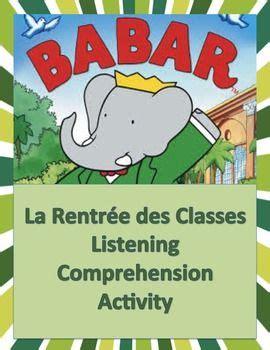 french listening comprehension la rentree des classes