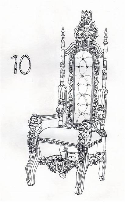 King Drawing Throne Chair Royal Coloring Drawings