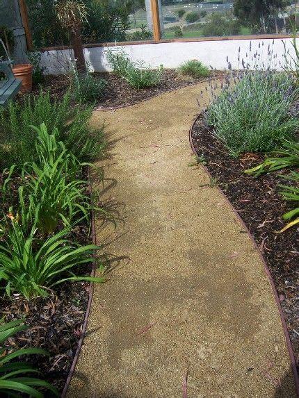crushed granite pathways decomposed granite path front yard pinterest