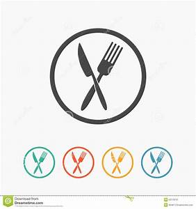 Crossed Fork And Knife Icon Stock Vector - Image: 53178731