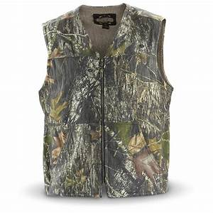 Guide Gear U00ae Camo - Lined Vest  New Mossy Oak Break