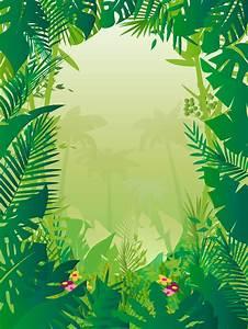 Jungle, Background, Vector, Art, U0026, Graphics
