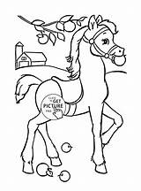 Coloring Horse Animal Funny Pages Printables Wuppsy Books Tags sketch template