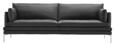 canape zanotta canapé droit william tissu 3 places l 224 cm gris