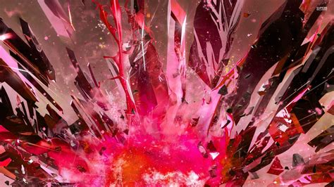 3d Pink Wallpapers by Pink Exploding Crystals Wallpaper 3d Wallpapers 29973