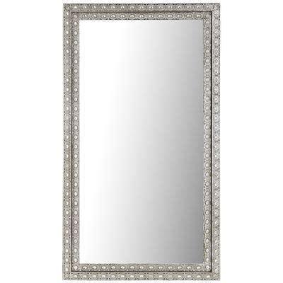 floor mirror metal frame luminous metal silver floor mirror