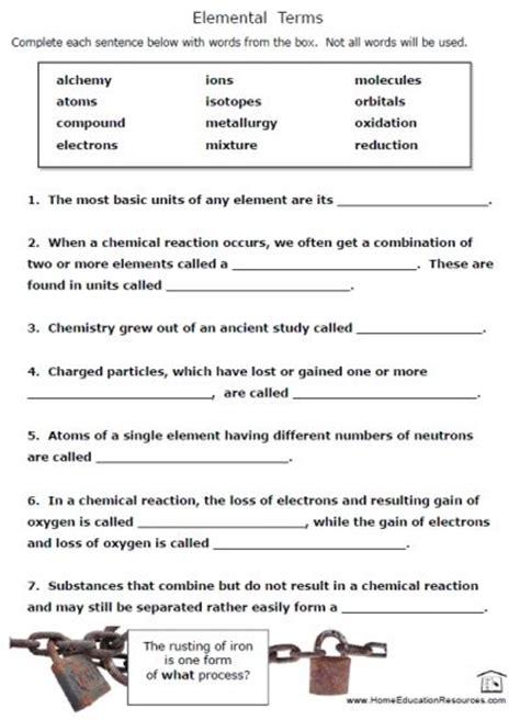 free printable chemistry worksheets 1 waldorf steiner chemistry chemistry