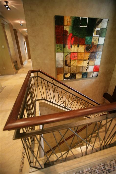 prairie style   woods eclectic staircase