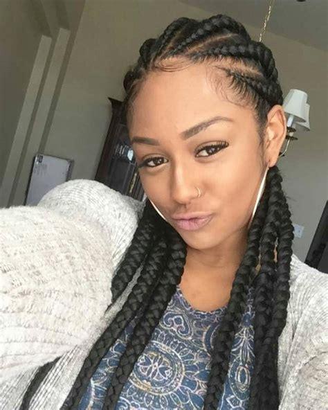 big cornrows hairstyles  afro american women