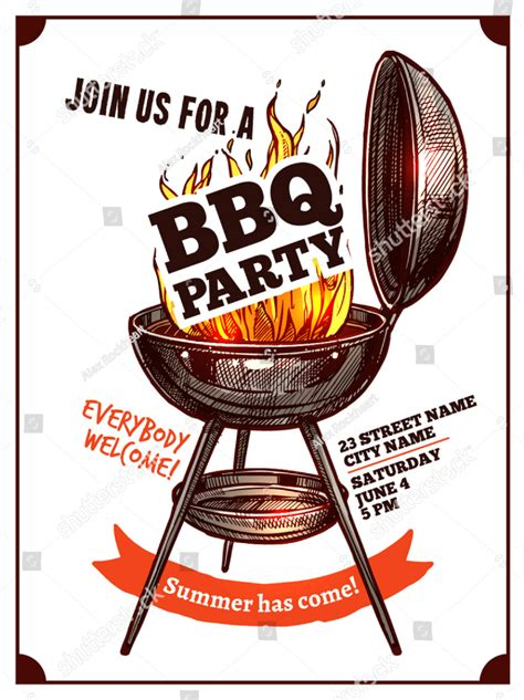 bbq party invitation designs psd ai word pages