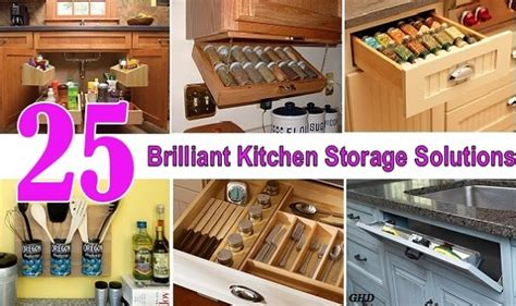 25 Brilliant Kitchen Storage Solutions  Home Design