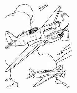 Fighter Aircraft Drawings And Coloring Sheets Curtiss P