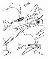Coloring Fighter Airplane Pages Military Plane Drawing Drawings War Aircraft Outline Jet 40 Pencil Warhawk Sheet Sheets Cartoon Printable Getdrawings sketch template