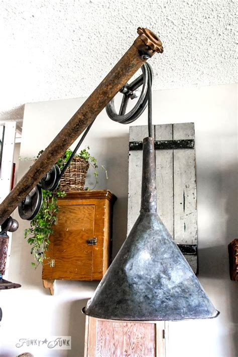 junk lamp wire oil funnel gear barn funkyjunkinteriors pipe floor funky pottery inspired interiors fear nothing awesome works had rust