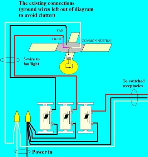 can i add a light to a ceiling fan how to wire a ceiling fan with two switches diagrams