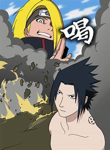 Clash - Sasuke v Deidara by Orlenius on DeviantArt