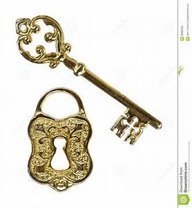 Ornate Key And Lock Stock Photography - Image: 36886592
