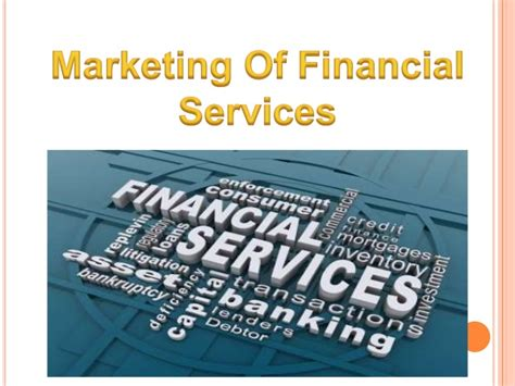 marketing  financial products