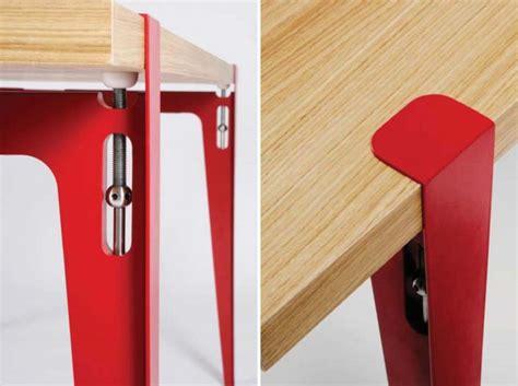 pied de bureau design 39 idées déco de tréteaux pour créer une table ou un bureau