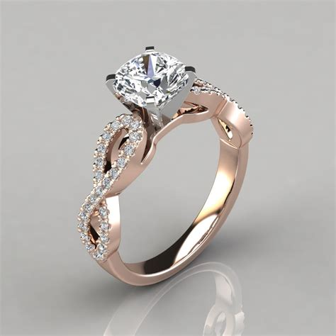 infinity design cushion cut engagement ring forever