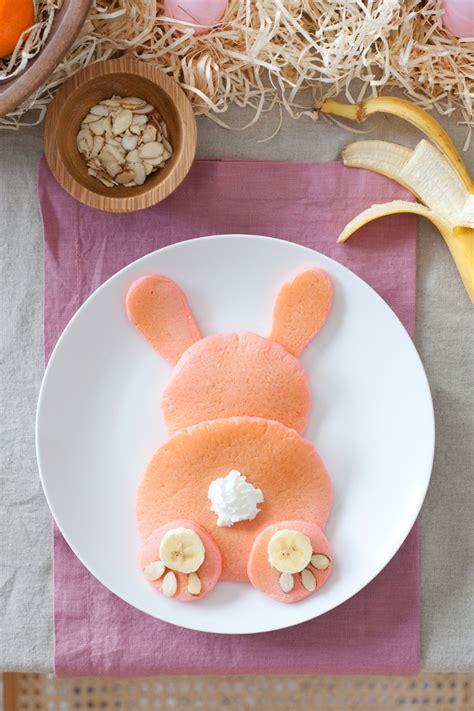 easter bunny brunch pink pancakes  beautiful mess