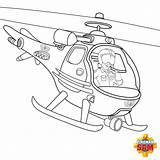 Wallaby Feuerwehrmann Ausmalbilder Fireman Hubschrauber Malvorlage Firemansam sketch template