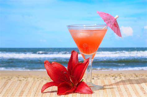 cocktail  strand stockbild bild von getraenk reise