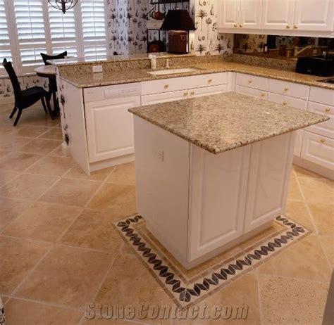Granite Countertops, Travertine Floor, Kitchen Des From