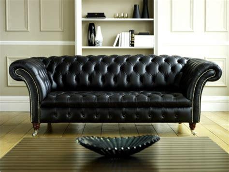 canapé chesterfield cuir noir le canapé cuir vintage le chic et le fabuleux confort