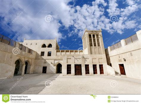 Broad View Of Sheikh Isa Bin Ali Old House Stock Photo ...