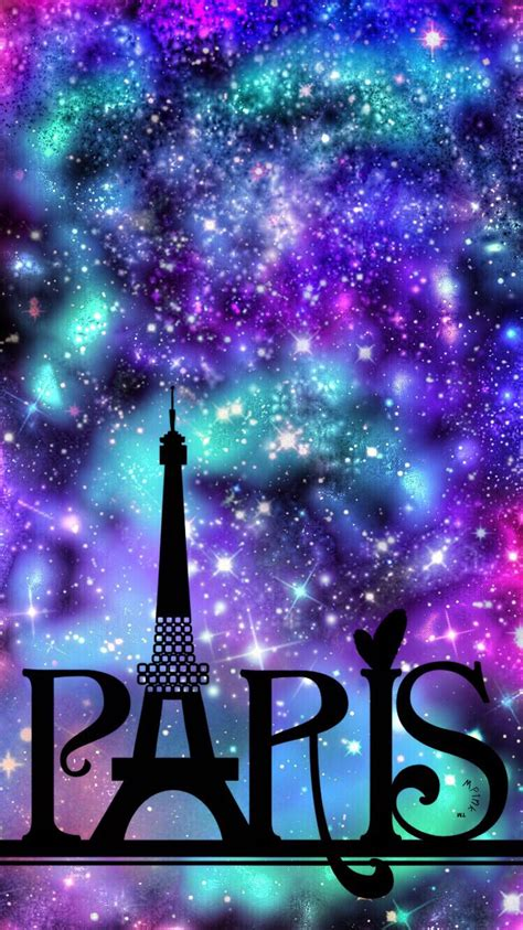 paris night sky galaxy wallpaper  wallpaper creations