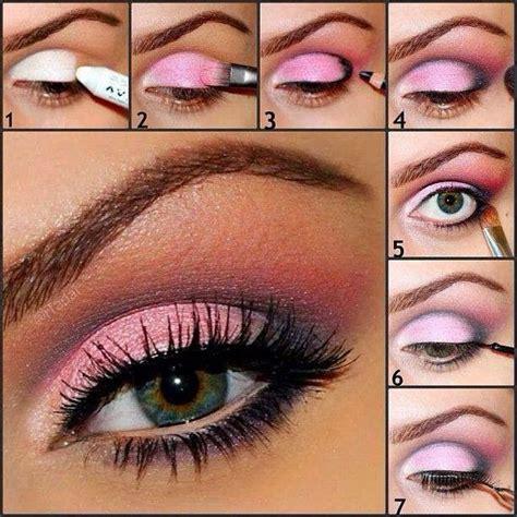 pretty pink eye makeup tutorials  ideas   romantic valentines day pretty designs