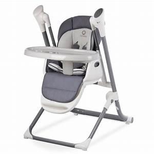 Chaise Haute 2 En 1 : chaise haute b b volutive 2en1 transat balancelle niles gris fonc gris achat vente ~ Louise-bijoux.com Idées de Décoration