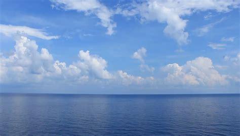 beautiful sea clouds  blue stock footage video