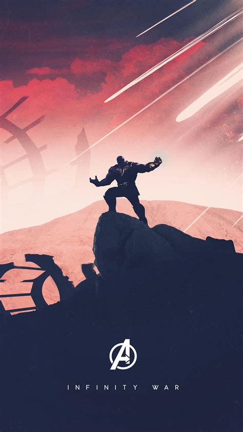 ❤ get the best marvel hd wallpapers on wallpaperset. Thanos Avengers Infinity War Artwork Free 4K Ultra HD Mobile Wallpaper