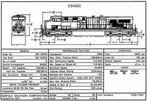 Norfolk Southern 2006 Diesel Locomotive Diagrams