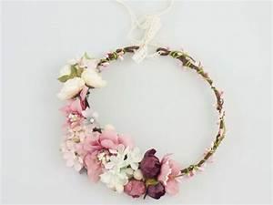 Couronne Fleur Cheveux Mariage : couronne de fleurs de lola white sur bijoux de cheveux pinterest couronne de ~ Melissatoandfro.com Idées de Décoration