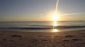 Sunrise on the Beach , Ocean Waves Sound - YouTube