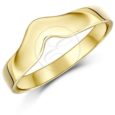 9ct yellow gold curved wishbone wedding ring band solid hallmarked 3mm ebay