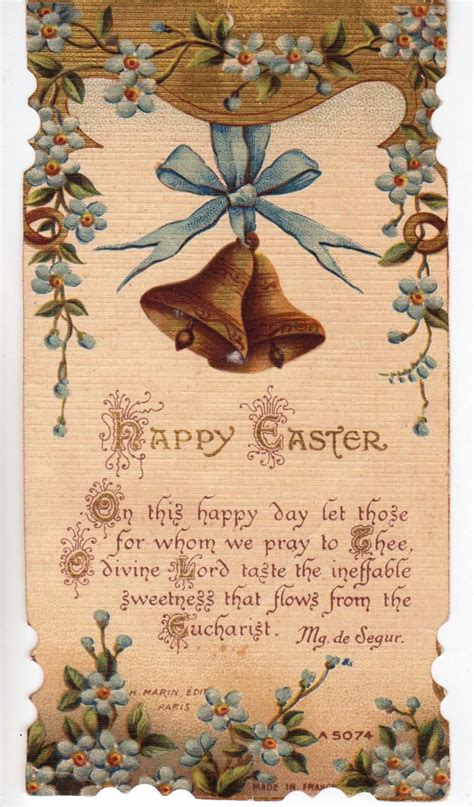 Through the grace, the family table becomes the family altar. Maximum Embellishment: AN EASTER PRAYER CARD - MADE IN FRANCE
