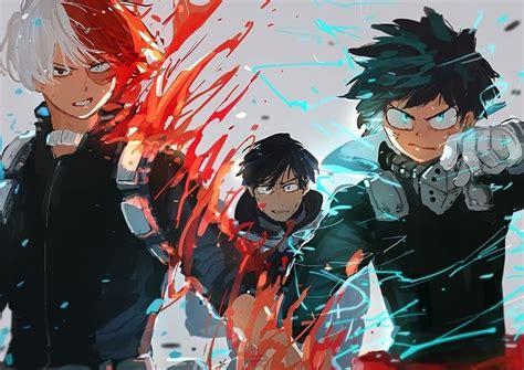 Izuku Midoriya, Shouto Todoroki, Tenya Iida, Anime Boys
