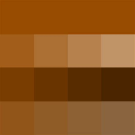 Brown Shade brown hue tints shades tones hue color