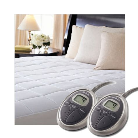 sunbeam heated mattress pad sunbeam selecttouch premium quilted cotton electric heated