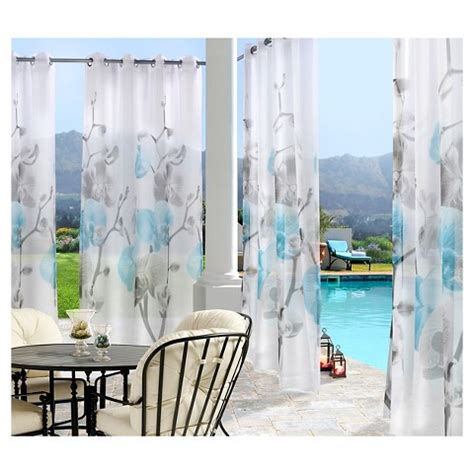 Sheer Patio Curtains Outdoor by Outdoor D 233 Cor Orchid Indoor Outdoor Sheer Curtain Target