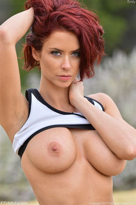 Busty Hot Redhead Emily Bares Her Perfect Tits And Sexy Body While Out Jogging