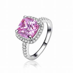 Pink diamond platinum engagement ring wedding and bridal for Wedding rings with pink