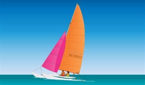 Catamaran Boat Ornament by Catamaran Sailing Free Vector In Adobe Illustrator Ai