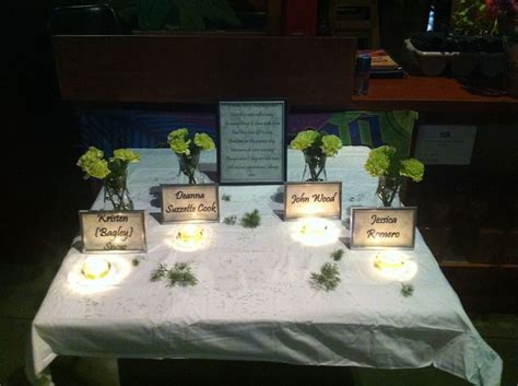 1000+ Images About Memorial Table Ideas On Pinterest