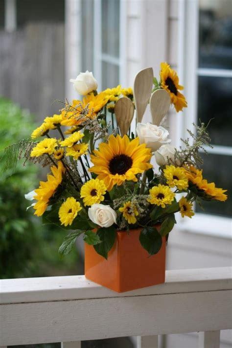 Sunflower kitchen utensils arrangement